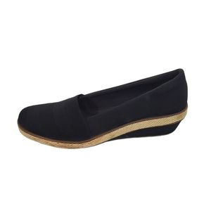 Grasshoppers Black Canvas Espadrille Loafers